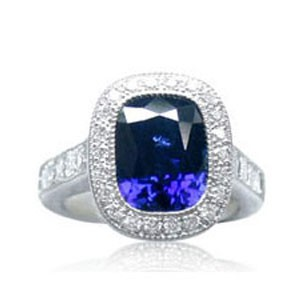 AFS-0081 Vintage Diamond Engagement Ring with Halo