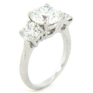 AFS-0082 Three Stone Diamond Engagement Ring