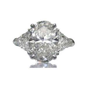AFS-0083 Three Stone Diamond Engagement Ring