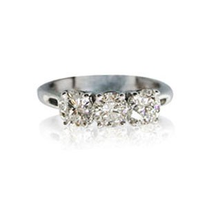 AFS-0085 Three Stone Diamond Engagement Ring