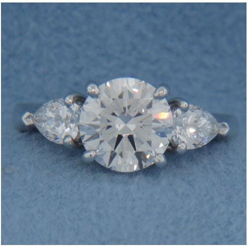 AFS-0087 Three Stone Diamond Engagement Ring