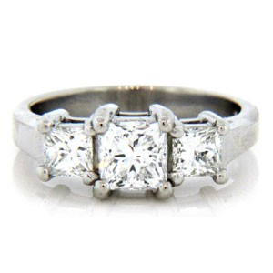 AFS-0092 Three Stone Diamond Engagement Ring