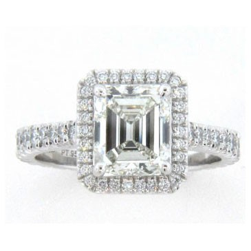 AFS-0093 Vintage Diamond Engagement Ring with Halo