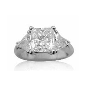 AFS-0095 Three Stone Diamond Engagement Ring