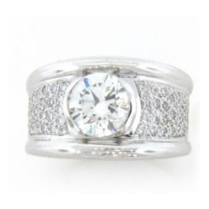 AFS-0096 Diamond Engagement Ring