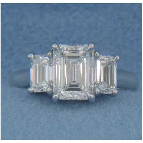 AFS-0097 Three Stone Diamond Engagement Ring