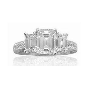 AFS-0099 Three Stone Diamond Engagement Ring