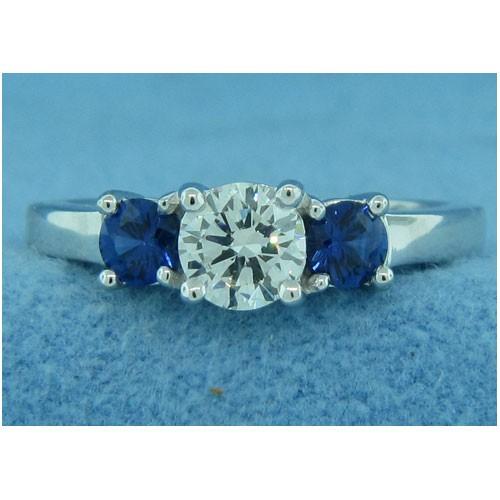 AFS-0101 Three Stone Diamond Engagement Ring