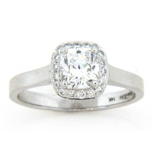 AFS-0110 Vintage Diamond Engagement Ring with Halo
