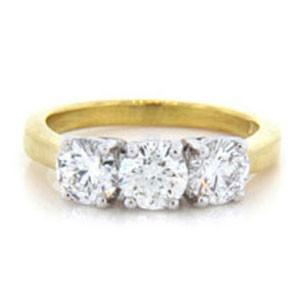 AFS-0126 Three Stone Diamond Engagement Ring