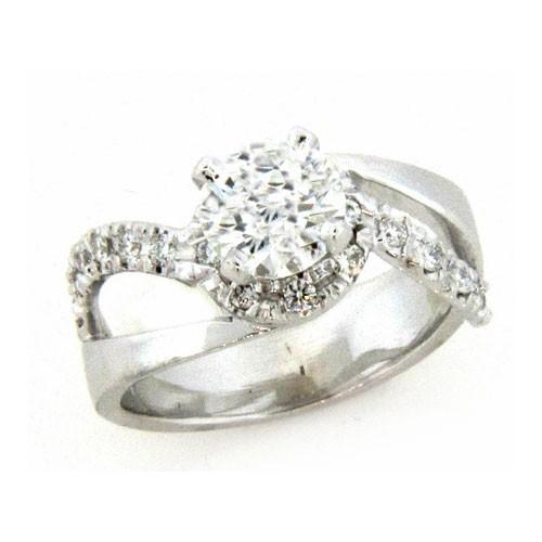 AFS-0153 Diamond Engagement Ring