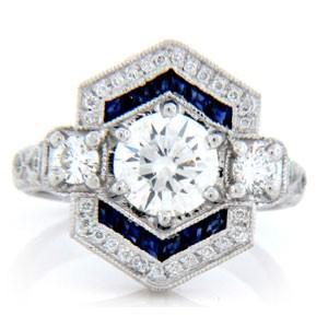 AFS-0154 Vintage Diamond Engagement Ring