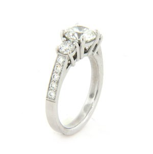 AFS-0164 Diamond Engagement Ring