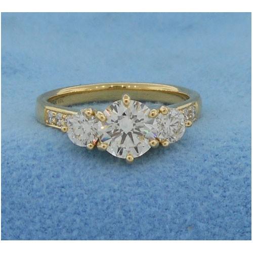 AFS-0180 Three Stone Diamond Engagement Ring