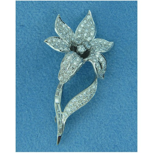 B1664 Diamond Brooch