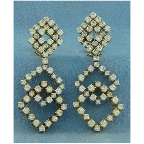 E1145 Diamond Drop Earrings
