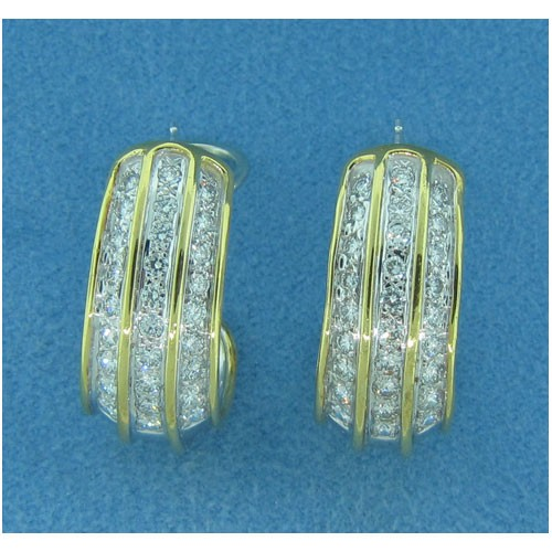 E1162 Diamond Hoop Earrings