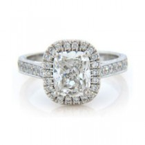 AFS-0075 Vintage Diamond Engagement Ring with Halo