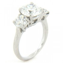 AFS-0082 Three Stone Diamond Engagement Ring