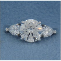 AFS-0087 Three Stone Diamond Engagement Ring