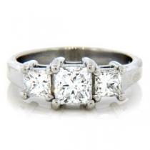 AFS-0092 Three Stone Diamond Engagement Ring