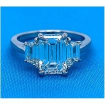 AFS-0094A Three Stone Diamond Engagement Ring