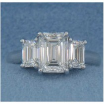 AFS-0097 Three Stone Diamond Engagement Ring