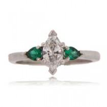 AFS-0109 Three Stone Diamond Engagement Ring