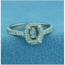 AFS-0122 Vintage Diamond Engagement Ring with Halo