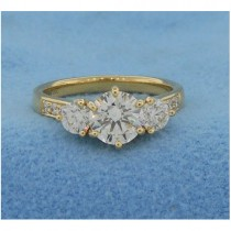 AFS-0180 Three Stone Diamond Engagement Ring