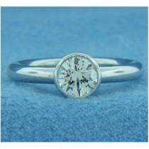 AFS-0193-Bezel-Set Solitaire Engagement Ring