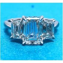 AFS-0216 Three Stone Diamond Engagement Ring