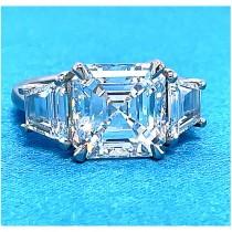 AFS-0224 Three Stone Diamond Engagement Ring