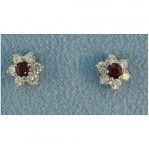 E1243 Diamond and Ruby Earrings